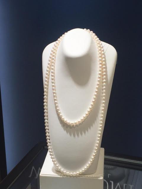 美しいアコヤ真珠(パール)ロングネックレス
