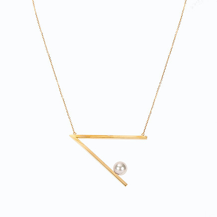 coctail necklace gold